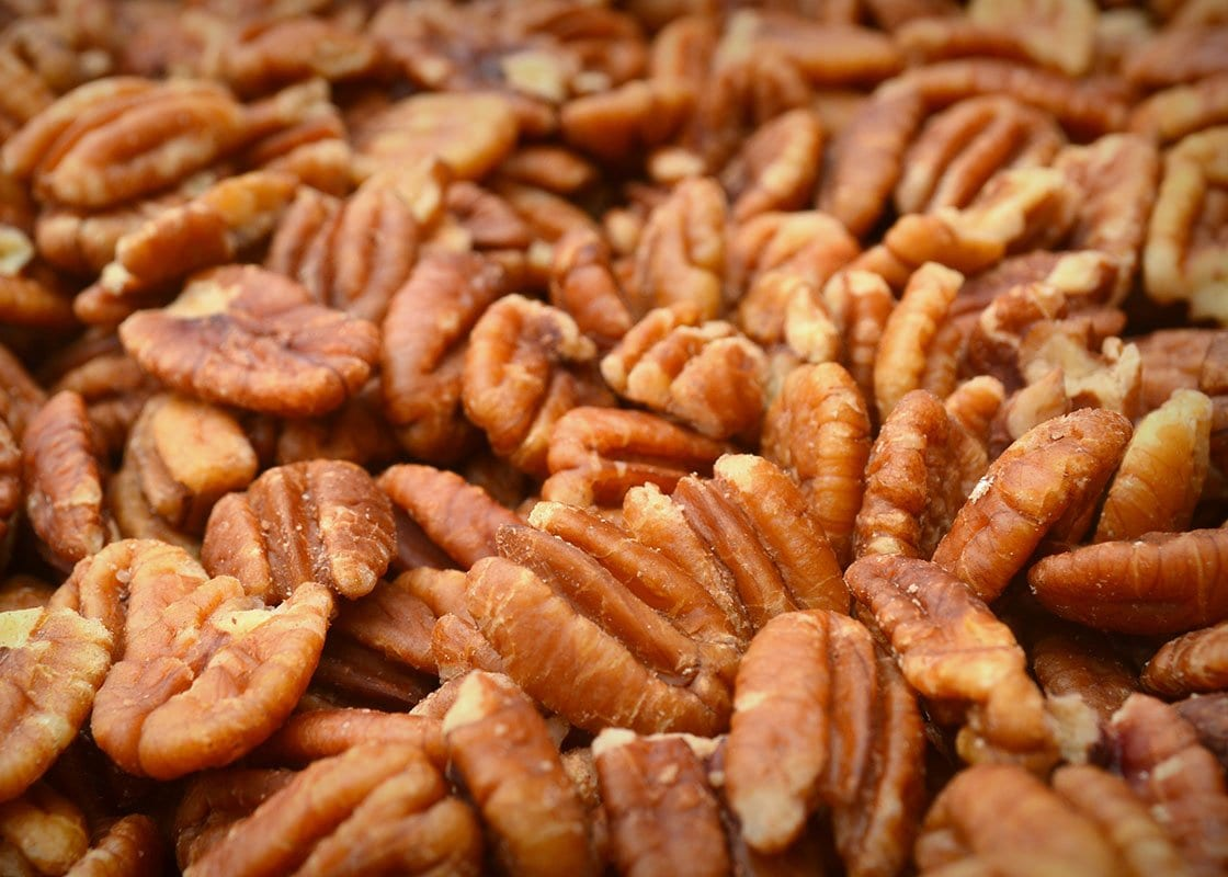 A pile of pecans
