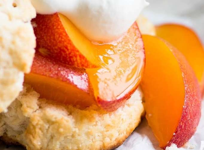 How To Make the Easiest Strawberry or Peach Shortcake Biscuits