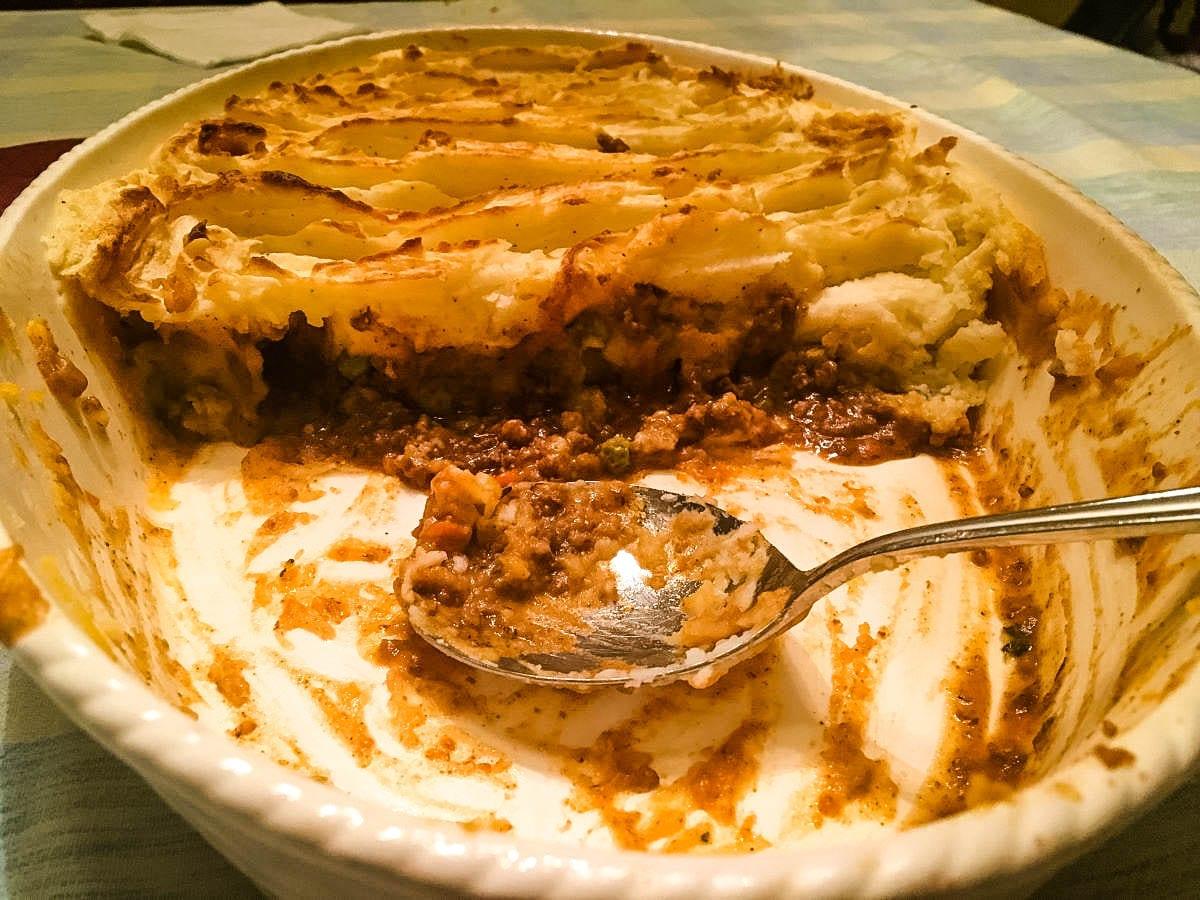 Shepherd's Pie ground beef ground lamb ground turkey Florio Marsala McCormick nutmeg fall casseroles comforting casseroles Peugeot nutmeg grinder Creo Smartglass