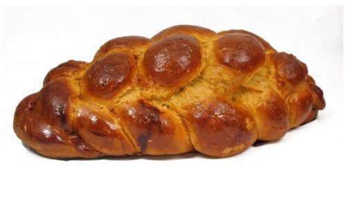 A close up of brioche bread