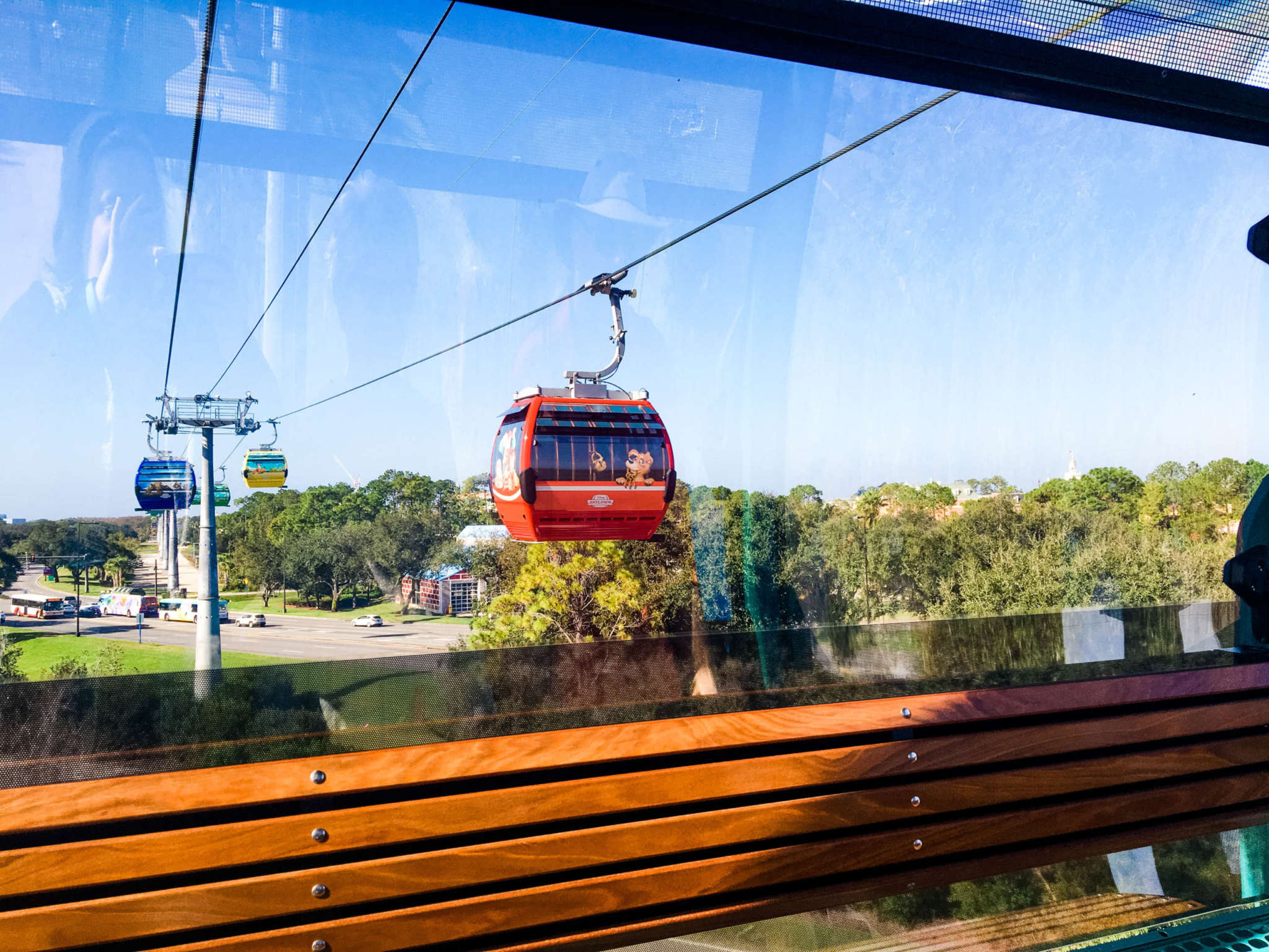 A view from a gondola car