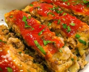 Sausage Studded Beef & Turkey Meatloaf