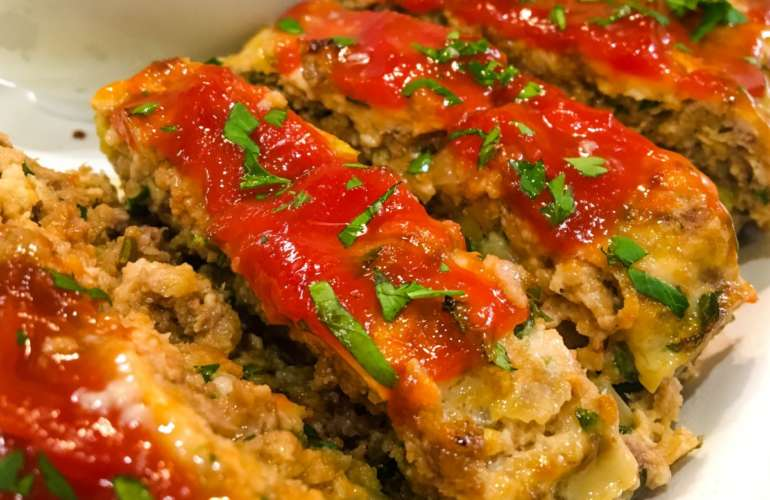 Sausage Studded Beef & Turkey Meatloaf