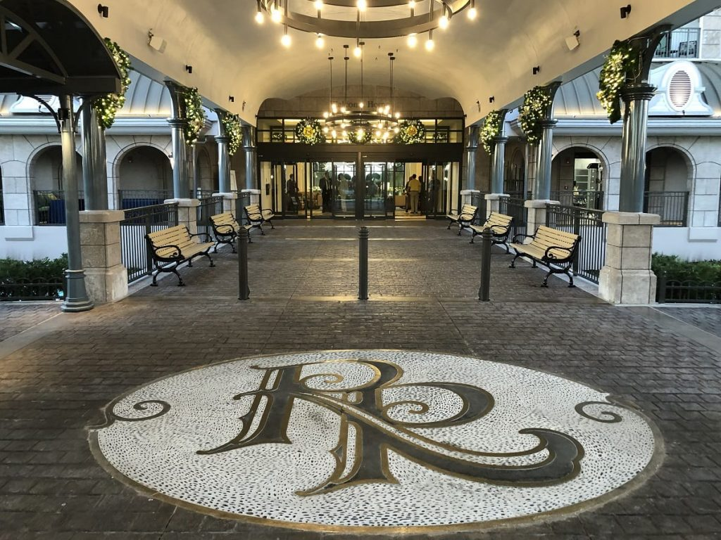 entrance picture of the Hotel Riviera at Walt Disney Worlds Orlando resort