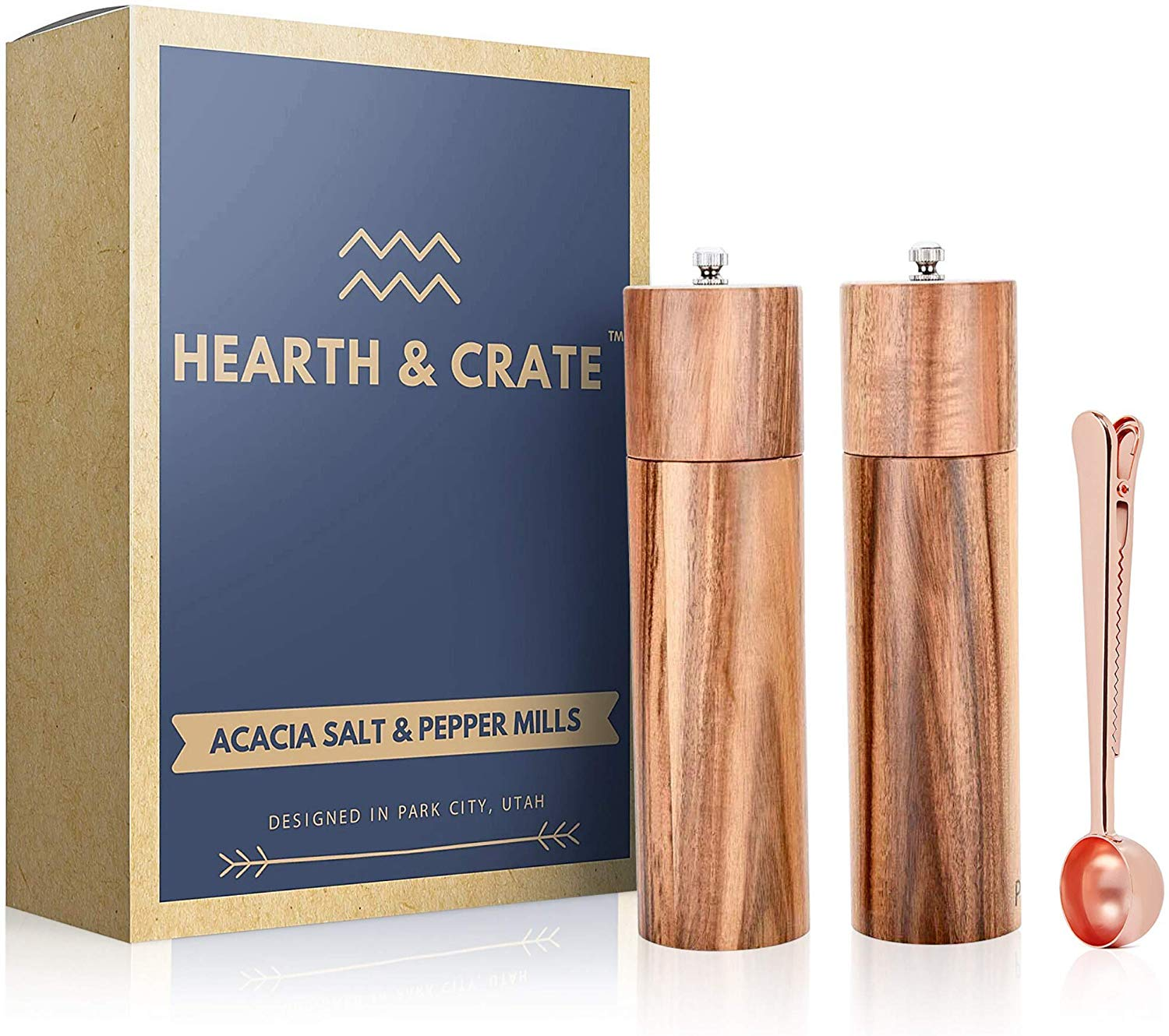 wood salt & pepper grinders