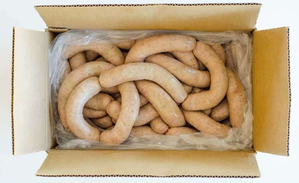 box of sausage