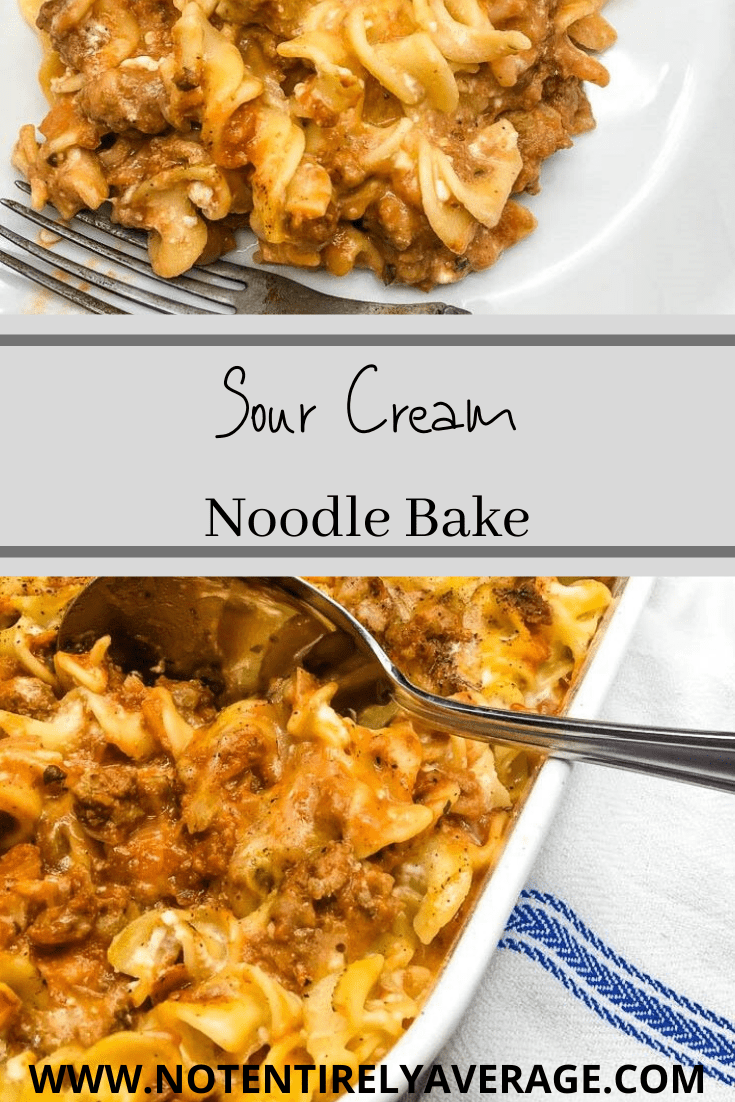 sour cream noodle bake Pinterest pin