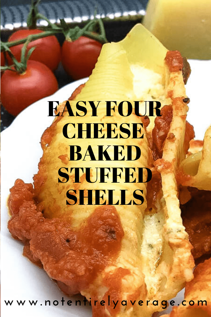 PinIt image easy four cheese baked stuffed shells not entirely average