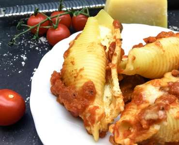 Easy Four Cheese Baked Stuffed Shells