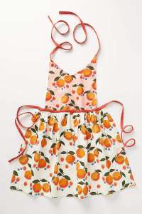 apron with fruit