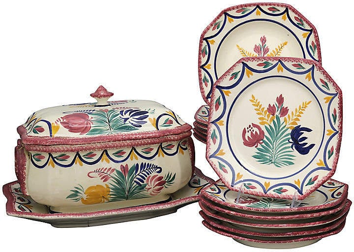A set of handpainted dishes