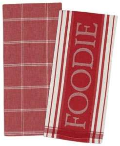 kitchen towel that says Foodie