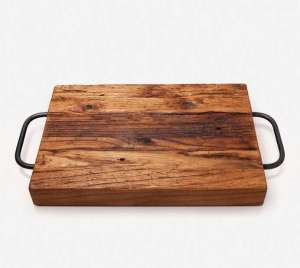 A wooden board, with handles