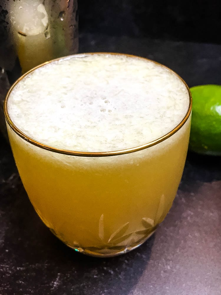 A close up of a glass of  Margarita