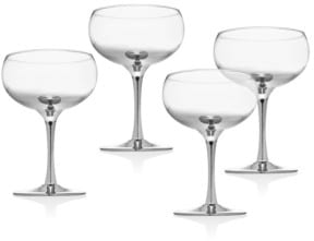 set of 4 coupe glasses