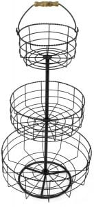 3 tier French bread basket wire