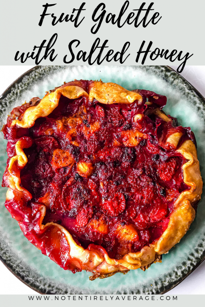 Pinterest pin for Fruit Galette with Salted Honey