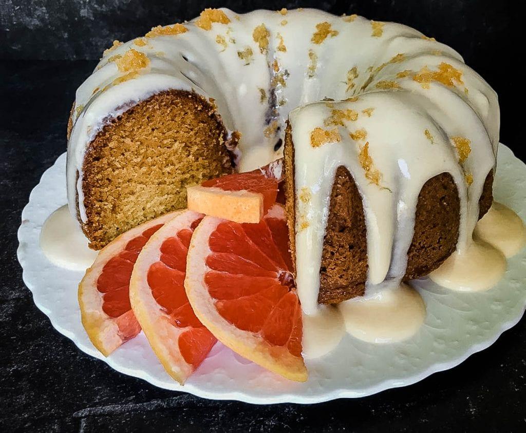 grapefruit sugar cake center