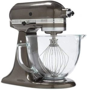 stand mixer with glass bowl