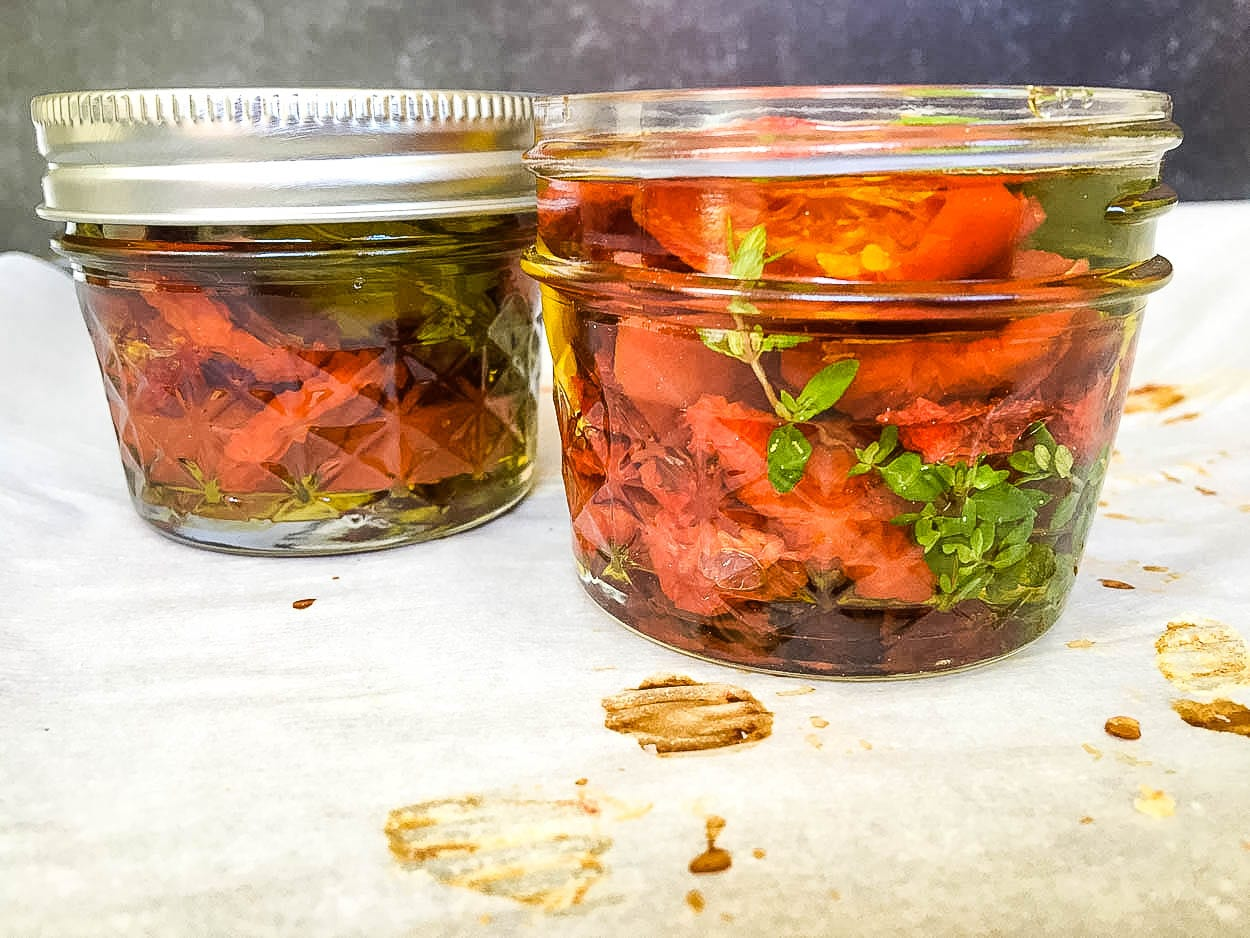 2 jars, with Tomato and Oven