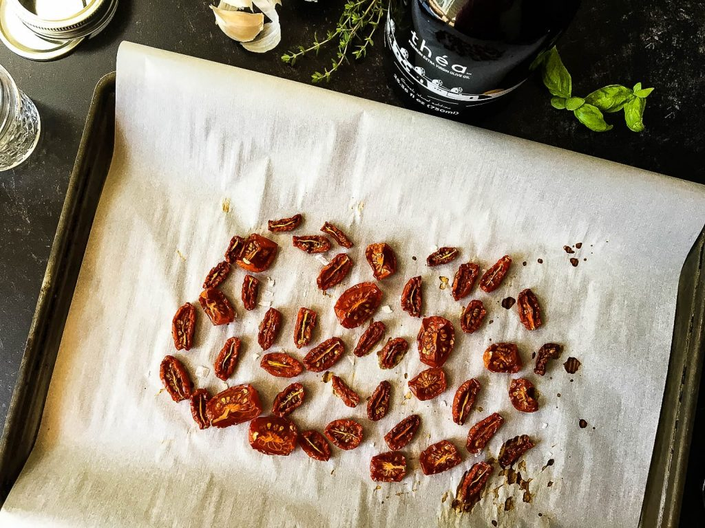 A sheet of sundried tomato sitting on top of a table