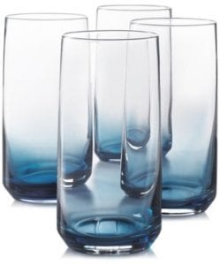 blue highball glasses
