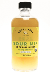 bottle of sour mix for cocktails
