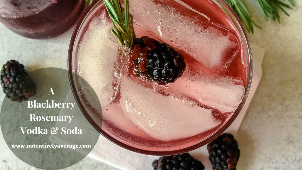 A blackberry cocktail, with Vodka and Berry