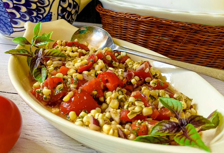 bowl of Fresh Corn & Tomato Salad