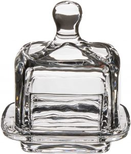 square domed butter dish