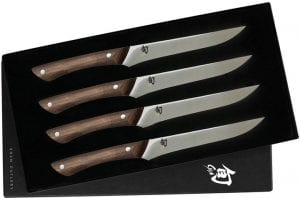 set of 4 steak knives for sweet potato and steak salad