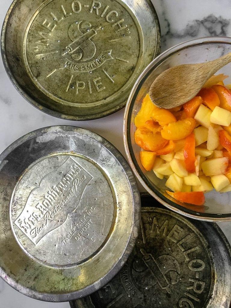 vintage tin pie pans