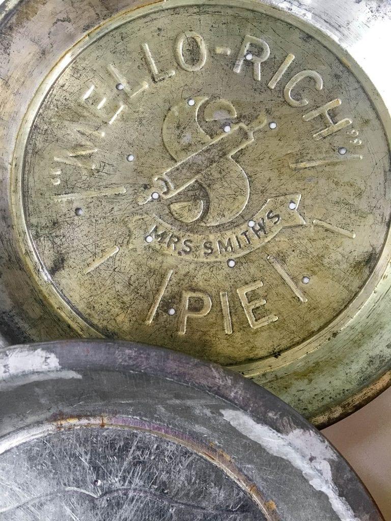 vintage pie tins