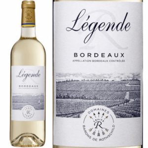 bottle of white Bordeaux wine