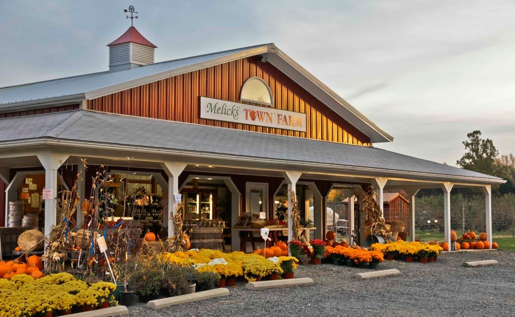 farm stand with pumpkins