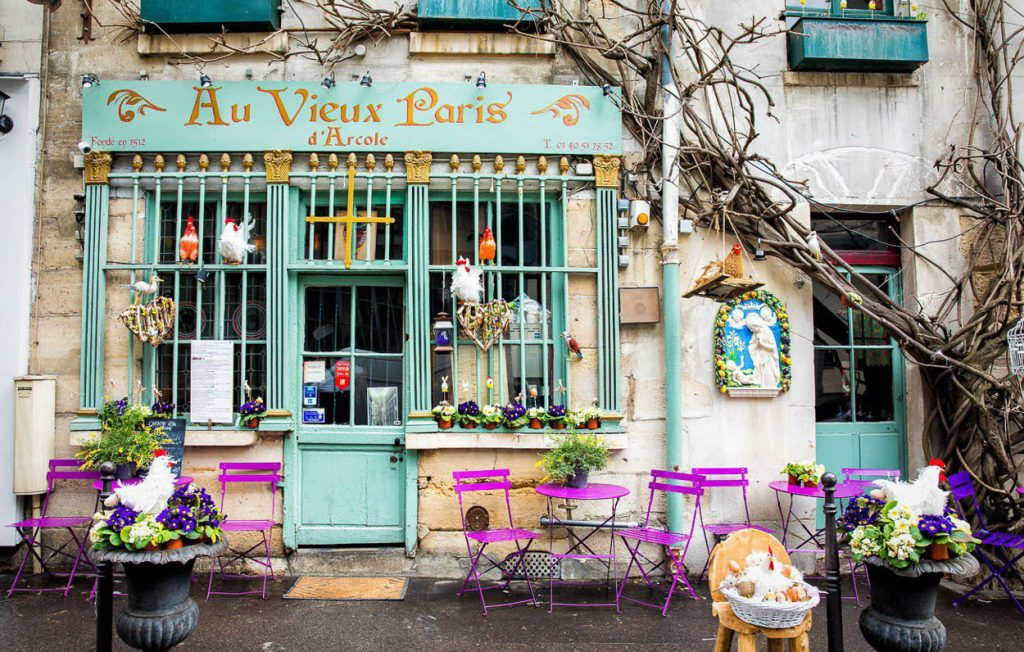 a cafe in Paris France where I experienced the omelet of a lifetime