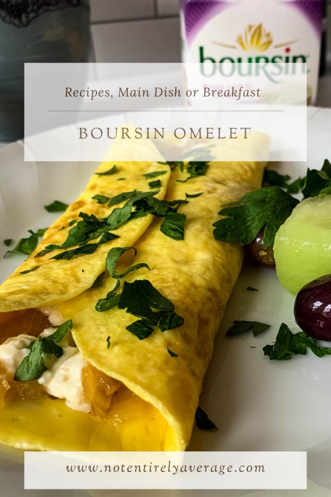 Pinterest pin image for Boursin Omelet