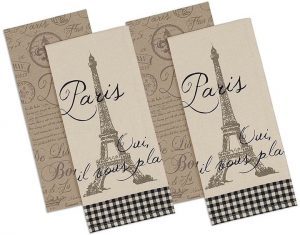 linen kitchen towels with Eiffel Tower