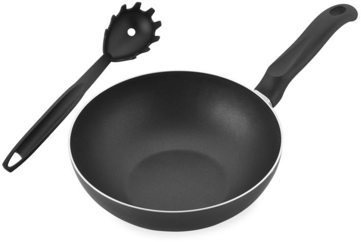 pasta skillet and spoon