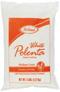 5 pound bag of white corn polenta