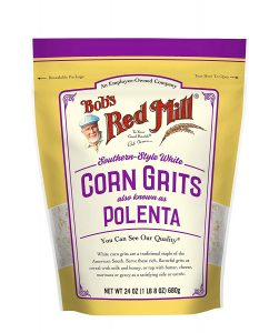 small bag of white polenta