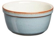single blue ramekin