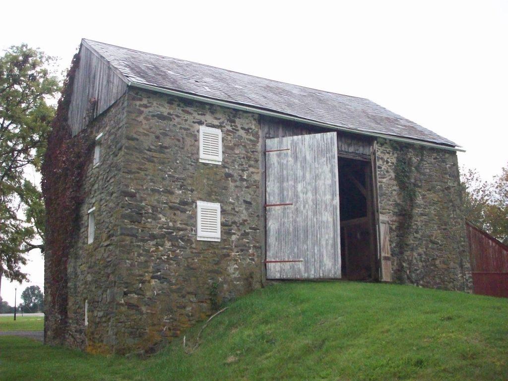 a Dutch stone barn