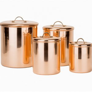 4 copper canisters
