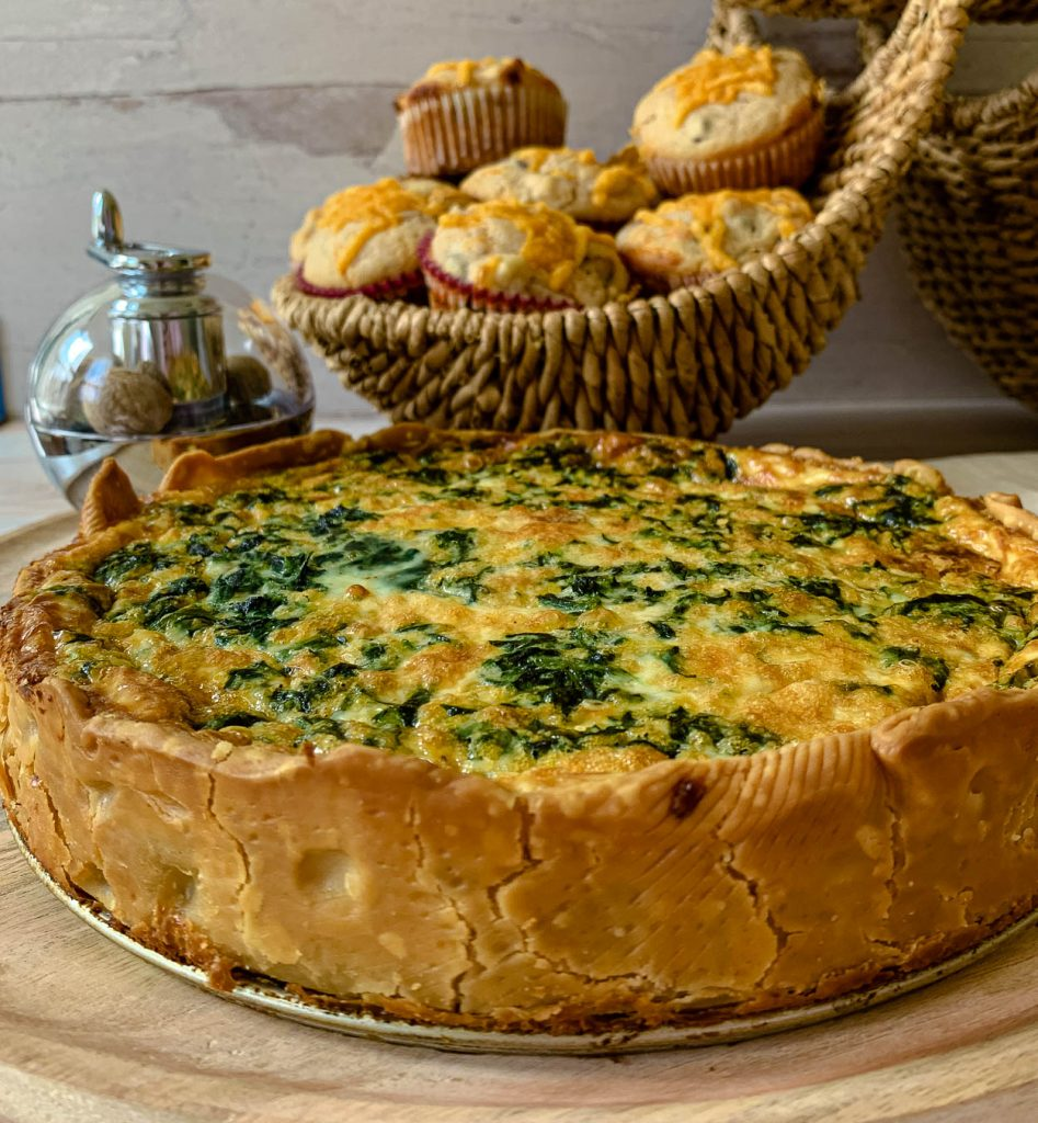 spinach bacon and bleu cheese quiche