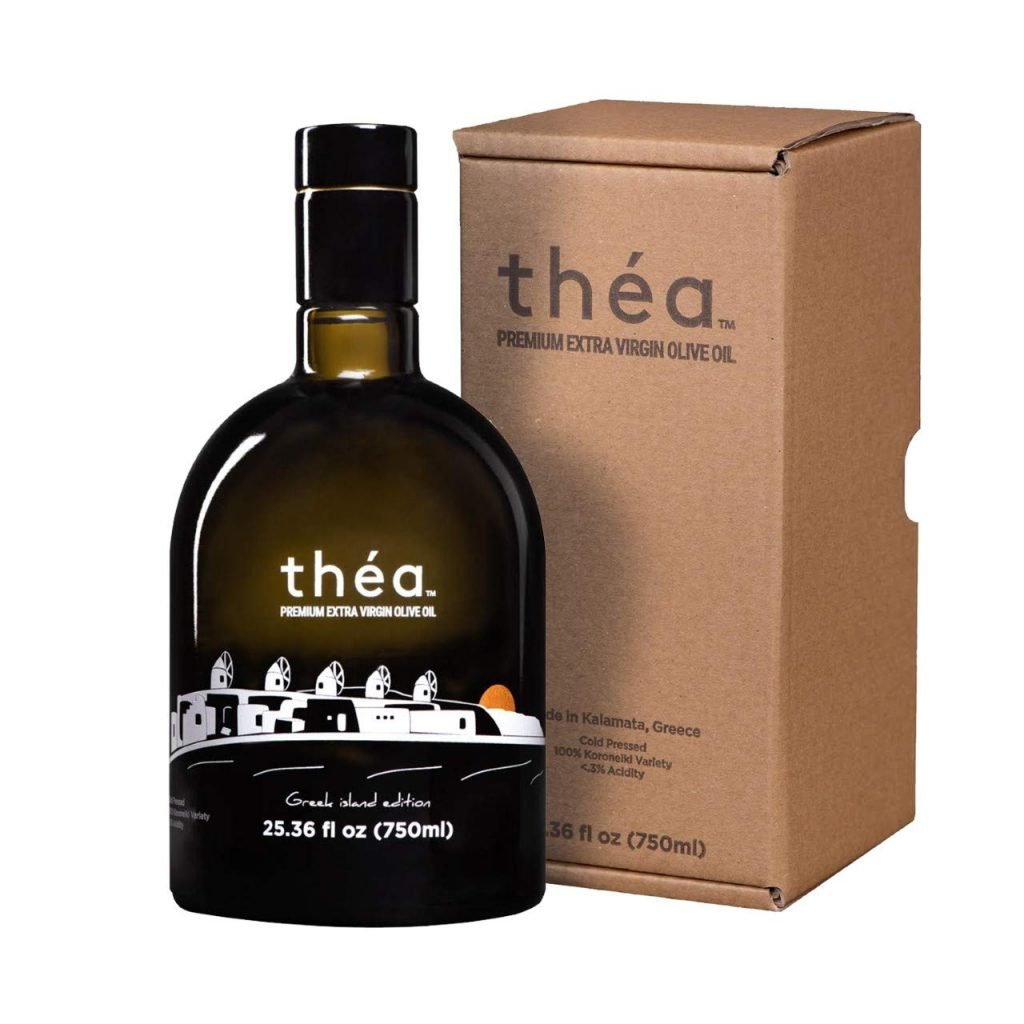 bottle of Greek olive oil