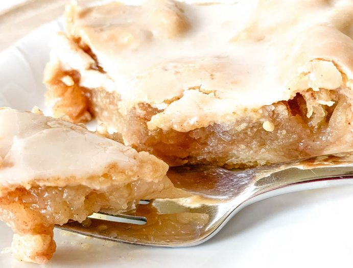 close up of Not Entirely Average Apple Slab Pie