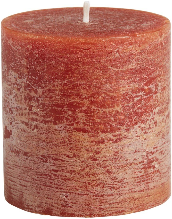 cider scented short pillar candle