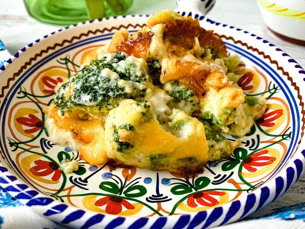 Cheesy Broccoli Cheddar Caserole