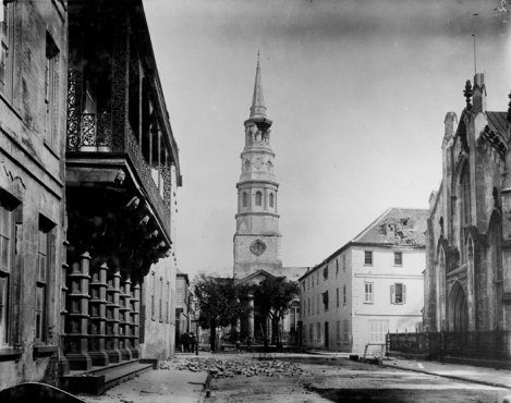 Church Street in Charleston, South Carolina as it was after the 1860 earthquake